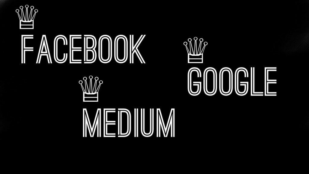 Facebook, Google и Medium