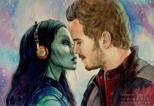 guardians of the galaxy : gamora & peter quill